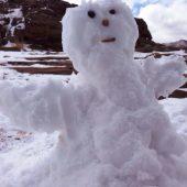 ワディラムにも雪の Olaf (オラフ)